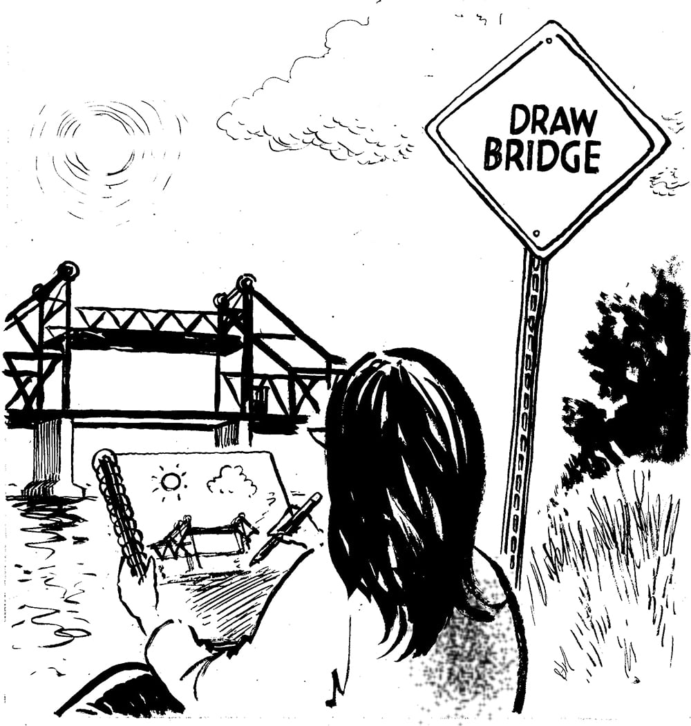 Bart King Bad Dad Jokes Draw Bridge